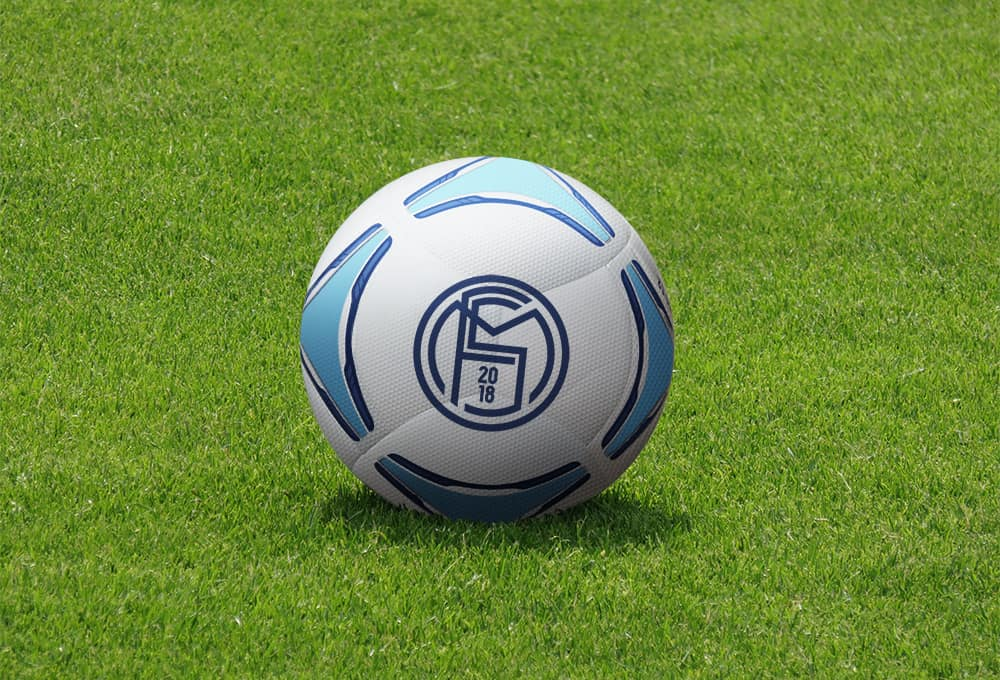 Free Football Soccer Ball Mockup