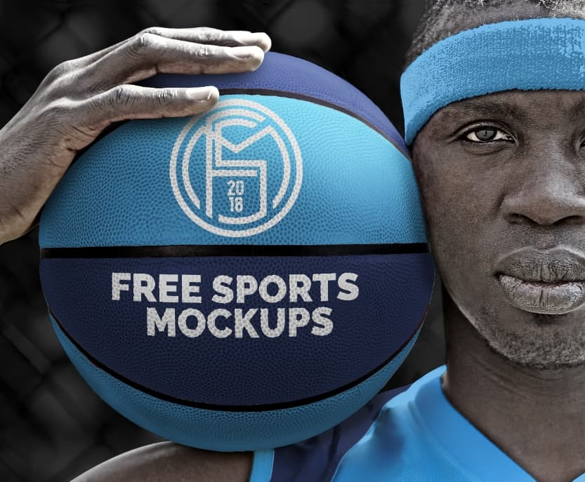 Free Basketball Sports Logo Mockup