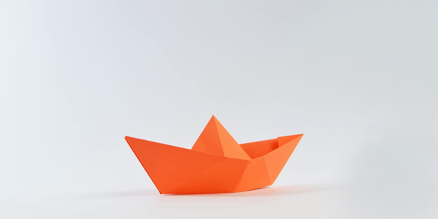 Orange Paper boat