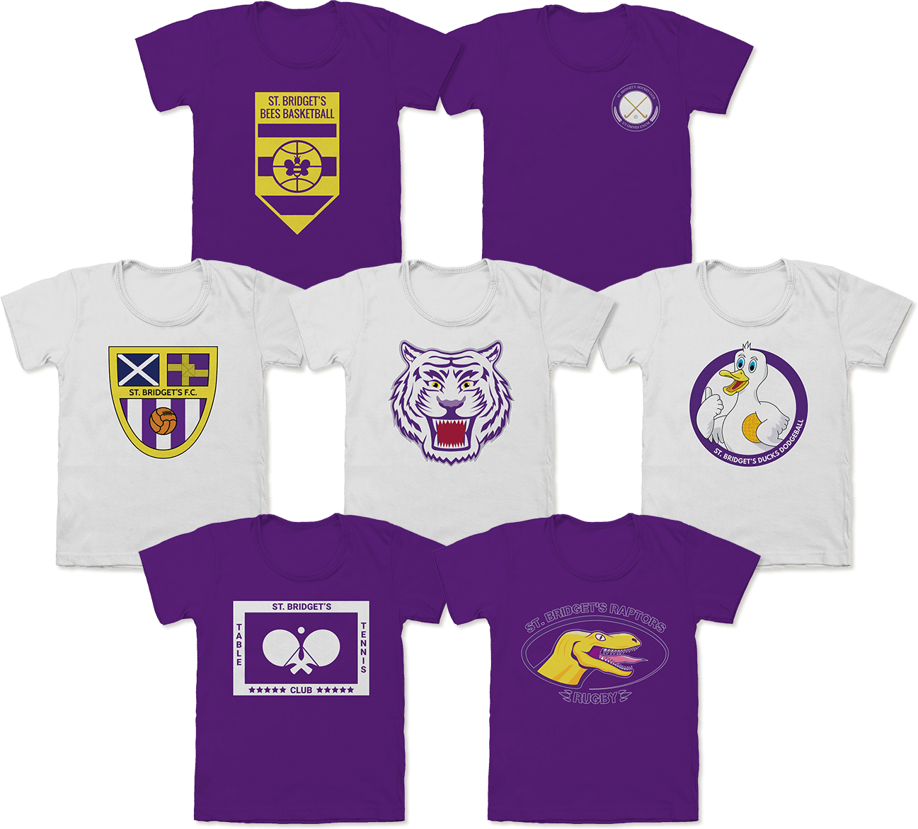 St. Bridget's Sports Logos T-shirts