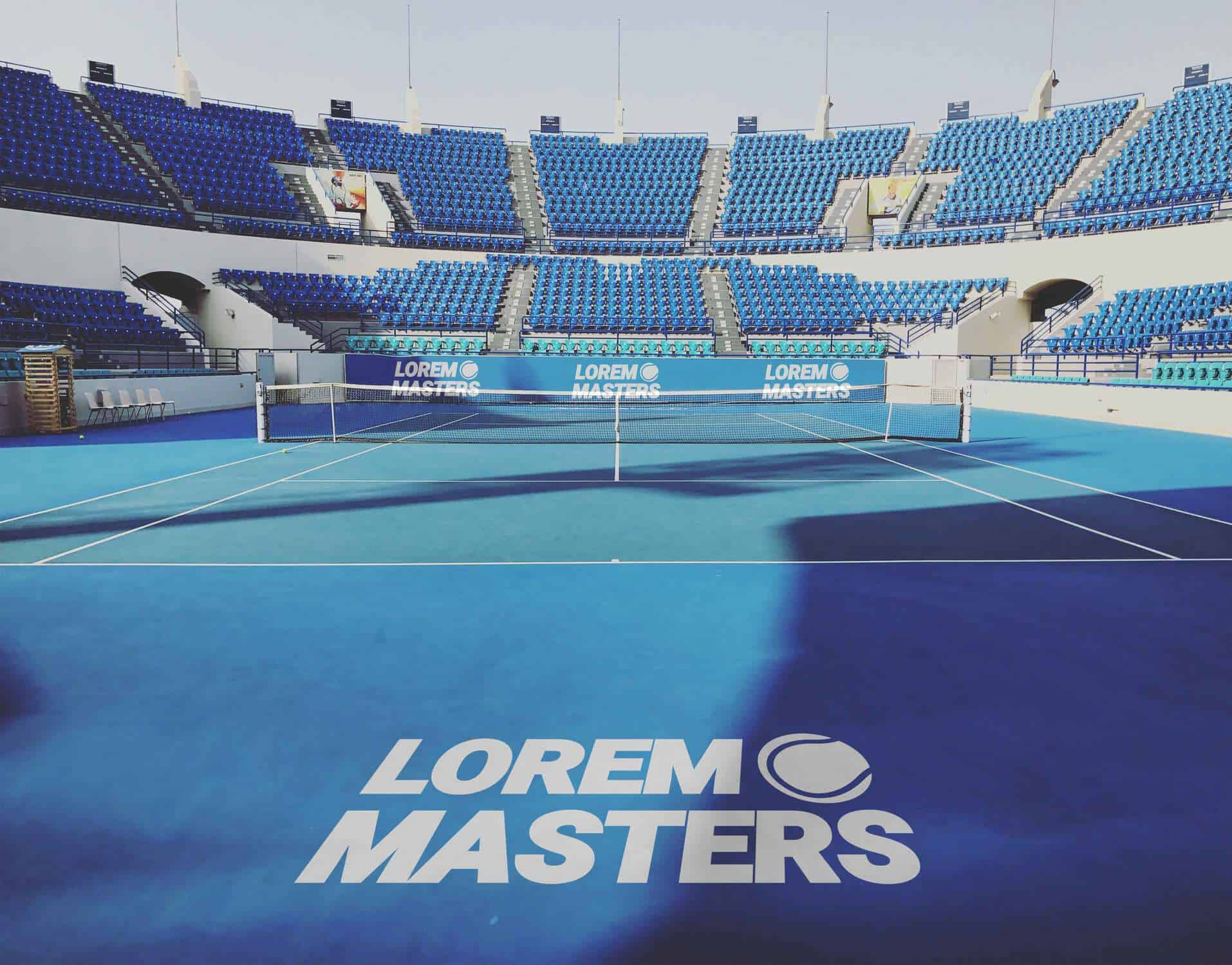 Free Tennis Court Mockup